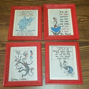 Available til 2/25! Dr. Seuss pictures $5 each